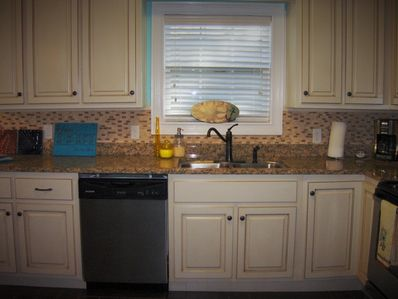 Lots of kitchen space for your spread.