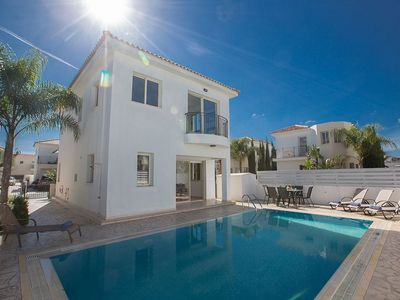 Photo for Villa Foros Pente - Lovely 3 Bedroom Pernera Villa with Pool - Close to Beaches and Amenities