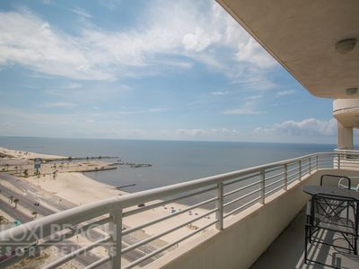Photo for Great View 2 BR Condo w/ WiFi, Beach, Resort Gym & Pool Access