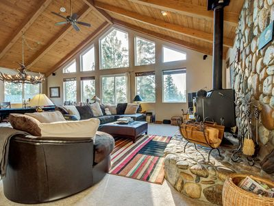 Photo for Wonderful grand mountain lodge with hot tub & game room - make family memories!
