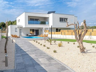 Photo for Modern villa near Vodice, with a private swimming pool and the beach just 100 meters away!