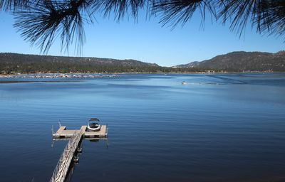 Your own private dock, with a rental boat waiting