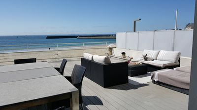 Photo for Beach front, luxurious 56m2 apartment, panoramic terrace, parking wifi