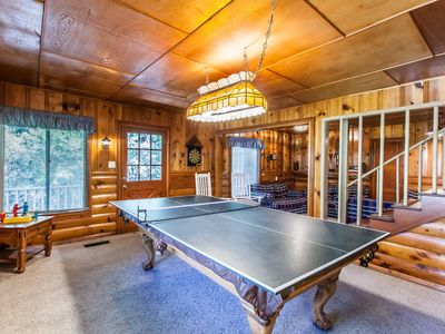 Photo for Peaceful Pines Lodge - 5 bedrooms with a game room!