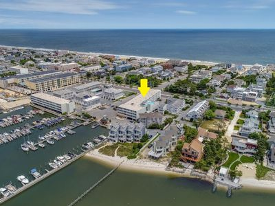 Photo for Spacious Bay Front Dewey Beach condo with community pool!