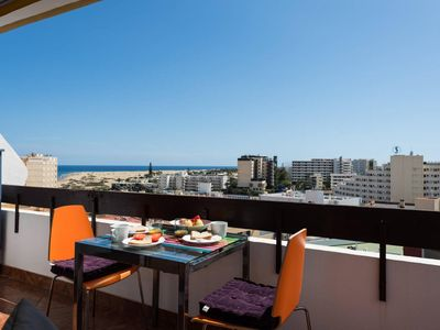 Photo for Penthouse with Panoramic Views with Balcony 20m2 next to the Beach