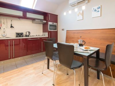 Kitchen with dining for four