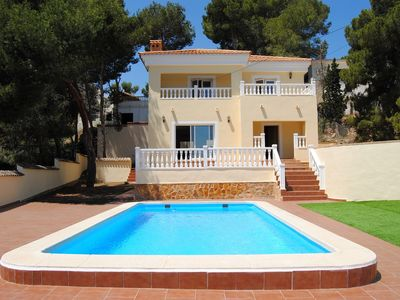 Photo for Spacious newly built 3 bedroom villa, will sleep 8, Pool with  large terrace