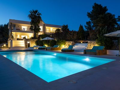 Photo for Luxury Private Holiday Villa with Volley Ball Court, Ibiza Villa 1007