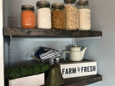 Farm decor and a few fresh staples for your use
