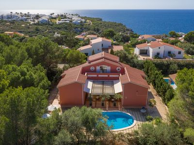 Photo for Spacious Villa with pool nearby the sandy beach, Es Canutells, Menorca