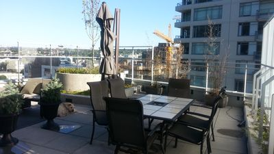 South Facing condo with 975 sq feet PRIVATE patio