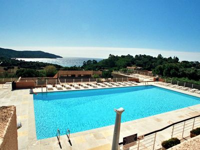 Photo for CROSS VALMER / SYLVABELLE - 2 p + terrace - Beautiful sea view with pool -