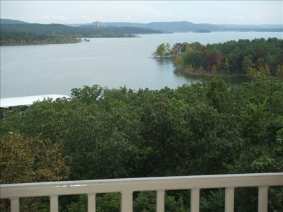 View of Table Rock lake  from balcony.