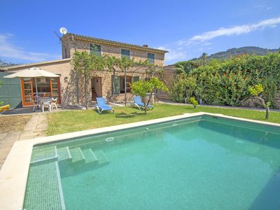 Photo for Charming villa with private pool and garden in Soller