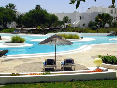 Photo for Nice apartment in Lanzarote - Costa Teguise. With swimming pool, garden, beach 250m