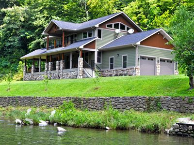Photo for River Memories, 3 Bedrooms, Sleeps 8, On the Water, Hot Tub, Pool Table