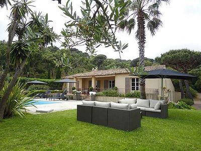 Photo for Villa nr picturesque Ramatuelle village; beautiful garden & heated swimming pool
