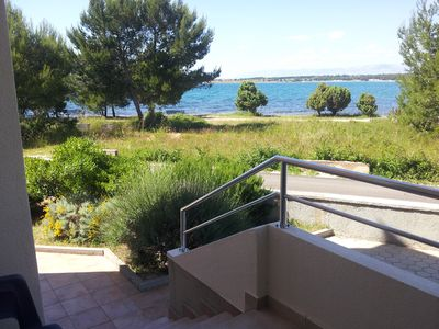 Photo for Apartment facing the sea on the ground floor for 5 Pers. at Zadar Nin Zaton