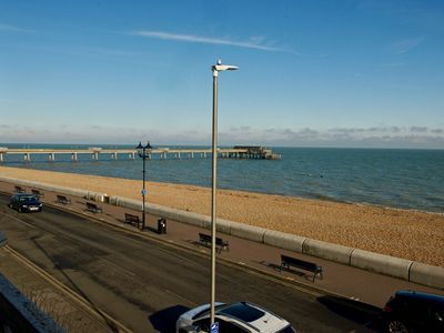 Photo for Bright & airy newly refurbished first floor apartment with panoramic views of the English Channel &