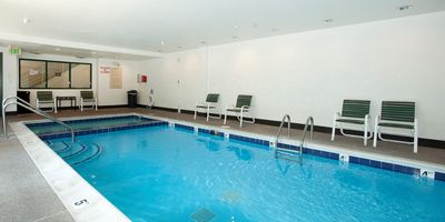 Take a dip in the indoor swimming pool!