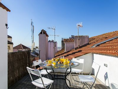 Photo for Family friendly 2-level Apt w/2 Bedrooms and roof terrace, in historical center