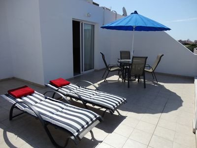 Photo for Spacious, Modern, Fully A/C, free Wifi, Penthouse Apt. in Small Block, Sea Views