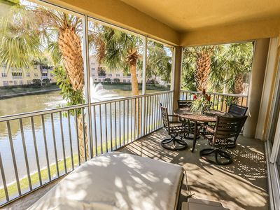 Photo for This resort style, lake-front condo has 3 bedrooms and 2 baths, with very generous square footage.