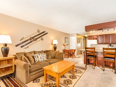 Photo for Cozy 1BR Condo with Prime Skiing and Summer Location
