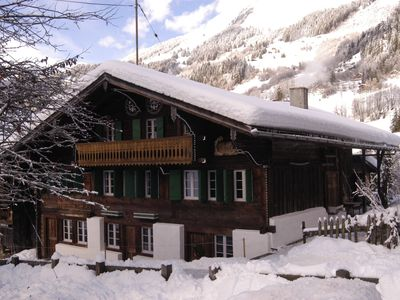 Photo for Beautifully restored chalet apartment next to ski runs
