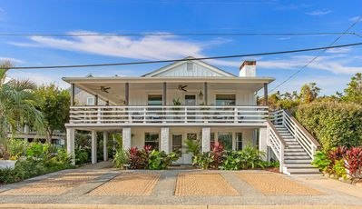 Photo for Renovated Upper Level Beachside Cottage Steps From the Ocean!