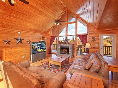 Photo for Terrific Views, Covered Heated Pool Access, 1 Mile to Dollywood