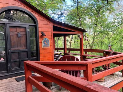 Photo for Treetop hideaway, Relaxing, Small towns, Dining, Hiking, Biking, Water sports,