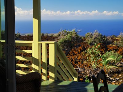Photo for Bungalow with spectacular ocean view from lanai and private hot tub