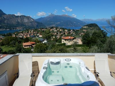 Photo for apartment with private jacuzzi, private garden, three terraces, beautiful view