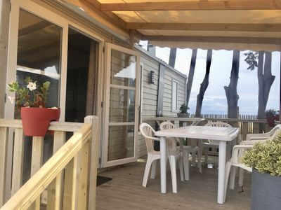 "Photo for ""The sea if nothing"" - Mobilhome Sea View Camping du Conguel 4 *"
