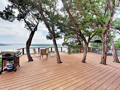 Photo for New Listing! Lake Travis Treehouse w/ Tram to Private Dock & Gorgeous Views!