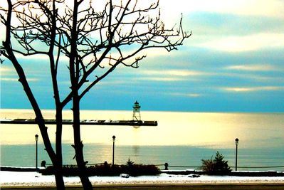 Poised with a view of Grand Marais Harbor.  View is from the house.