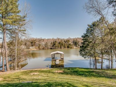 Photo for Renovated Lakefront Home with Private Dock and Spacious Backyard