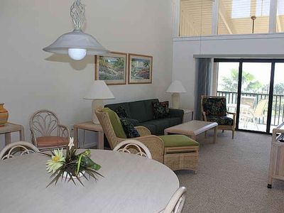 Photo for Beautiful Sanibel Beachfront condo, 2BR 2BA available third week of October.