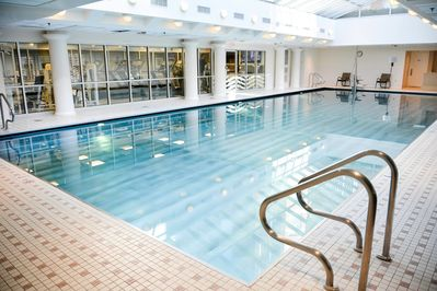 Take a dip in the beautiful indoor pool.