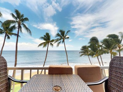 Photo for NEW LISTING! Oceanfront condo w/shared pool & lanai with amazing ocean views