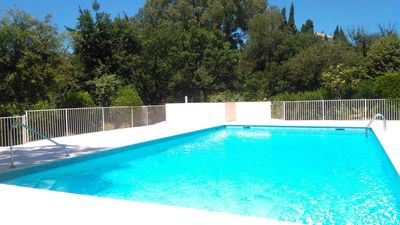 Photo for The calm of a small secure residence in a park with swimming pool and tennis