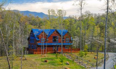 Blue Mountain Lodge: Private mountain location~wooded/nature surroundings