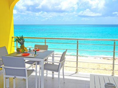 Lilly's Beach Side Retreat. Newly refurbished Simpson Bay beach front suite