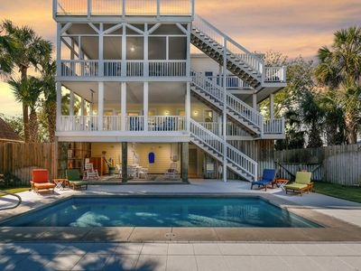 Photo for Stunning Views of Waterway, *Pool, Elevator + 4 Decks. South IOP- Walk to beach!