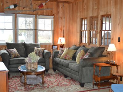 Photo for Relax in this comfy Log Cabin after your short walk back from the beach
