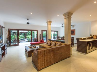 Photo for 2 BR Villa in quiet Seminyak close to the beach, restaurant, and nightlife