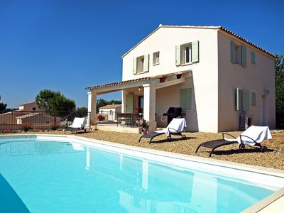 Photo for Beautiful private villa with private pool, WIFI, hot tub, TV, washing machine and parking
