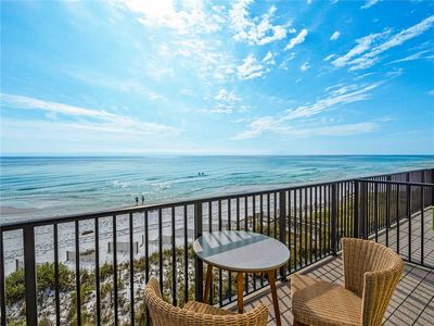 Directly on the Gulf, Free Beach Chairs, Comfy Escape